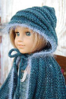 American Girl Doll cape - free knitting pattern
