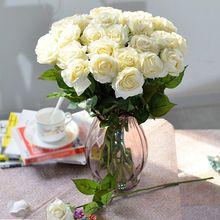 Nouvelle fleur artificielle Faux Rose Bouquet de soie à la main de mariage parti décoration de la maison(China (Mainland))