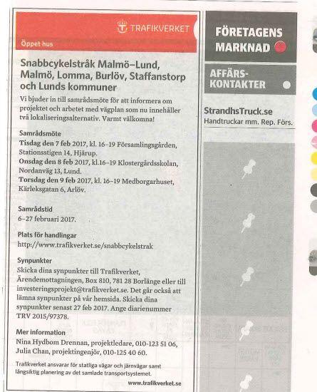 #snabbcykelstråk Lund-Malmö #Trafikverket http://www.trafikverket.se/snabbcykelstrak #MKBkurs