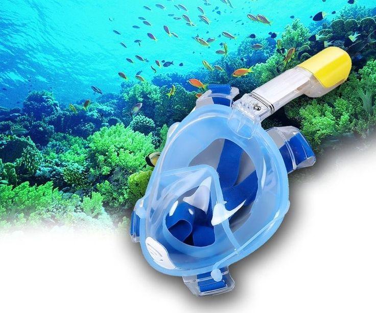 Easybreath Snorkeling Mask Blue Summer Deal for GoPro Camera M L FREE SHIPPING #EasybreathSnorkelingMask