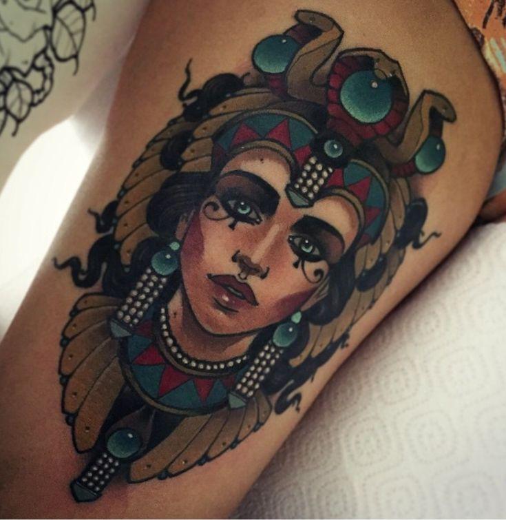 Egyptian women tattoo