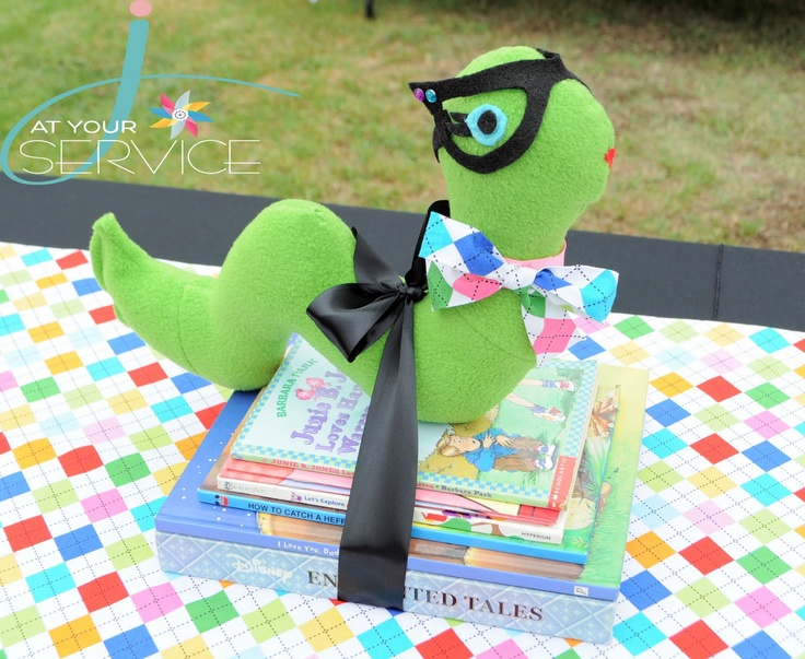 Bookworm Party - love the idea of receiving books as gifts, and serving nerds, gummy worms, smarties with bookmarks as gifts.