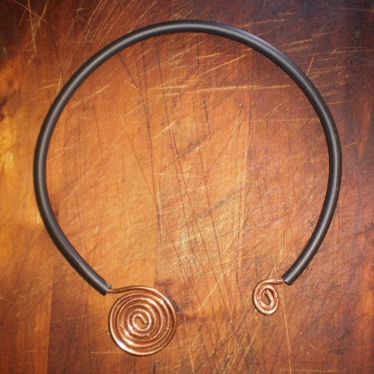 Handmade Handcrafted Black Collar Copper by Artgalleryraka on Etsy