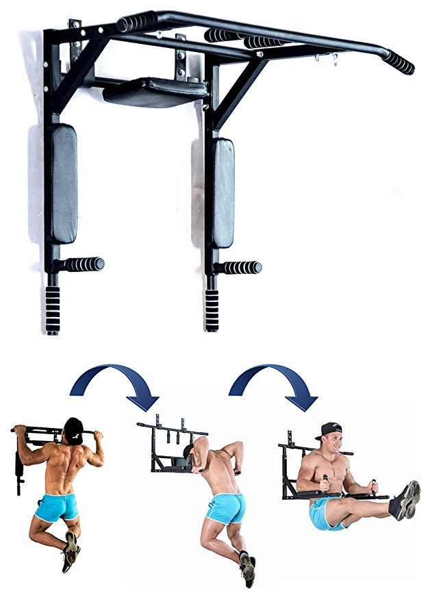 Best Portable Wall Mounted Pull Up Bar Chin Up Bar With Dip Bars For Home And Outdoor Perfect Pull Up M Fitness Zu Hause Fitnessroom Fitnessstudio Zu Hause