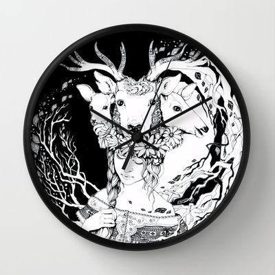 Charpatian Soul Wall Clock by ioanazdralea - $30.00