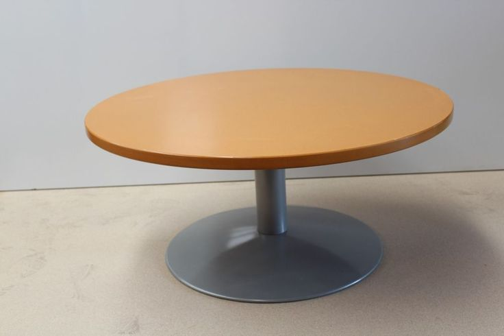 Beech Small Round Stem MeetingTable Office Computer Home Study Furniture Table