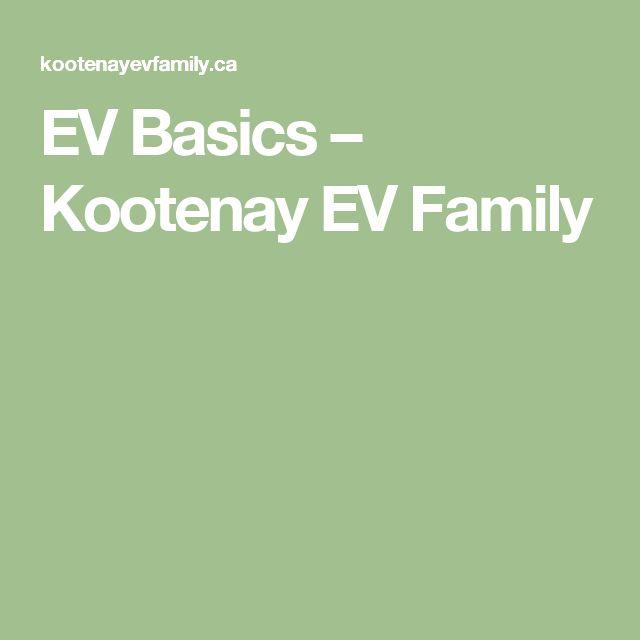 EV Basics – Kootenay EV Family