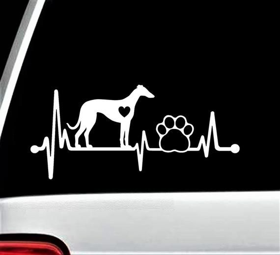 Whippet Heartbeat Lifeline Dog Paw Decal Sticker for Car Window BG 239 in  2019   Products   Pinterest   Dog paws, Whippet and Decals 4c67c70f68