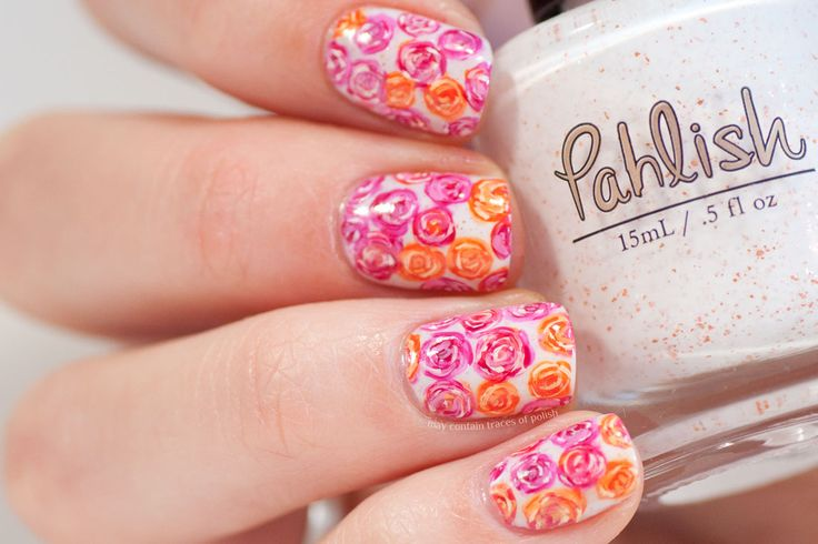 All Over Rose Nails