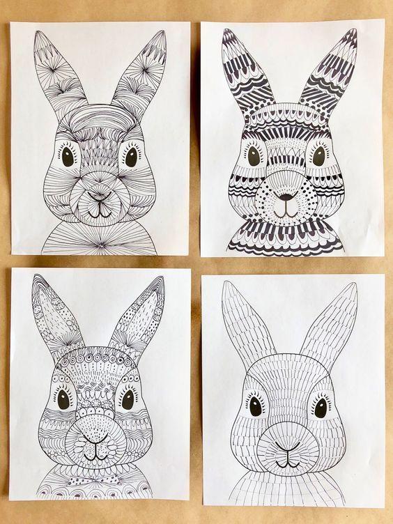 Funky Easter Bunnies   Wonderbar   DIYs   Spring art, Kindergarten