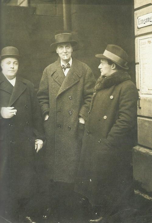 Erich Kleiber, Alban Berg et Leo Shützendorfer, Berlin, 1925