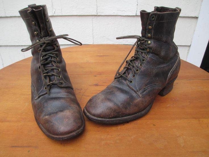 Vtg Bergmann Boots 11 D Original Condition Made In