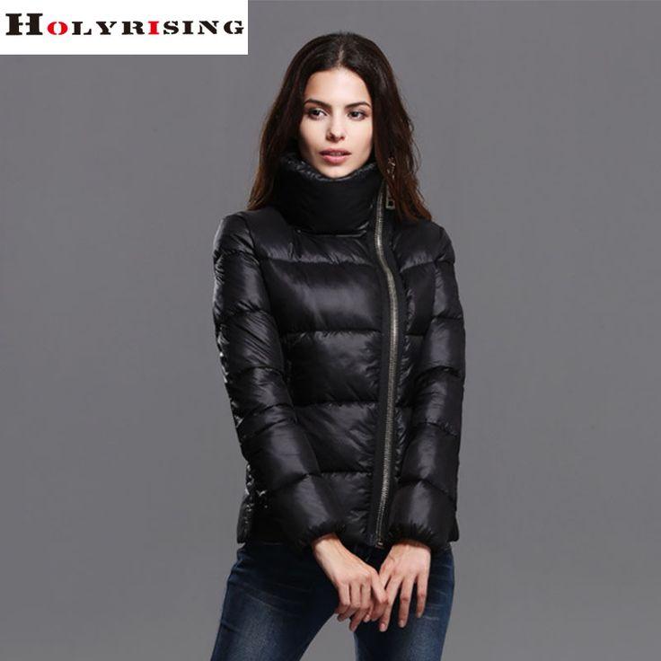 Winter hoodies Jacket Women Classic Lady Down Jackets Stand Collar gold Zipper down cotton Scasacos De Inverno Feminino S-XL