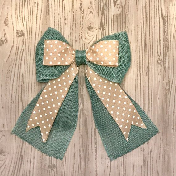 how to make a double bow for a wreath