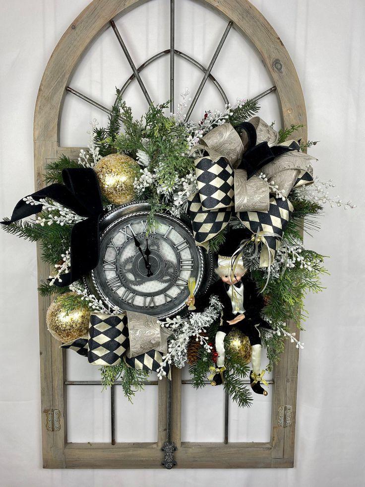 Happy New Years 2020 decor New Year's Eve front door ...