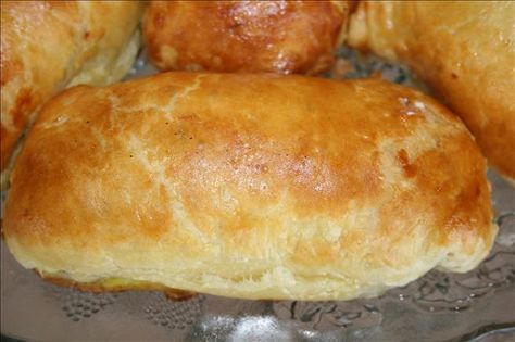Chicken in Puff Pastry from Food.com:   Very delicious and a nice presentation! Creamy/cheesy chicken wrapped in flaky pastry.