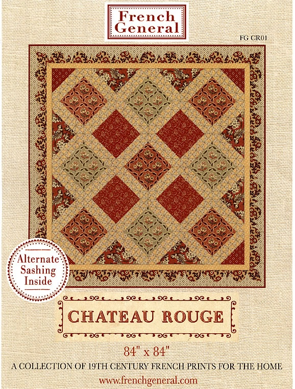 Chateau Rouge Quilt Pattern French General Fat Quarter