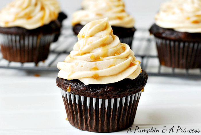 Salted Caramel Mocha Cupcakes