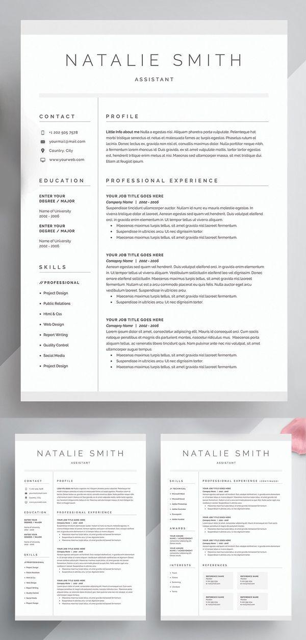 Creative Resume  Cover Letter Template Resume design template