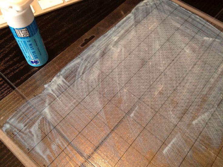 Bout de papier Un bout de papier pour [presque] tout créer…  //   Ré-encoller la feuille de transport