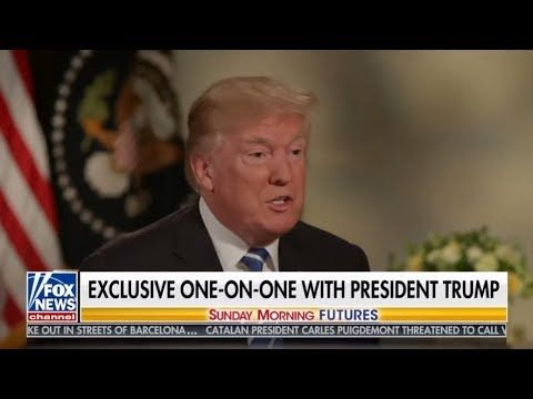 Sunday Morning Futures w/ Maria Bartiromo 10/22/17 EXCLUSIVE ONE-ON-ONE WITH PRESIDENT TRUMP - YouTube