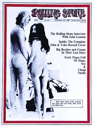 John Lennon and Yoko Ono on the November 23, 1968 cover.
