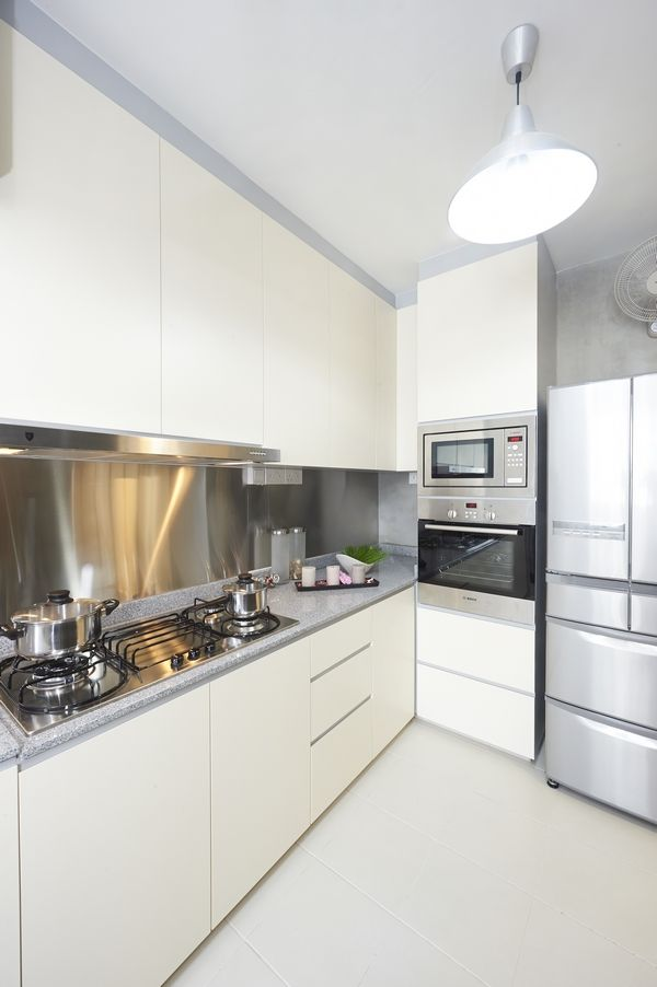 White Kitchen Concept Lux Design Pte Ltd Hdb Kitchen Pinterest White Kitchens Steel