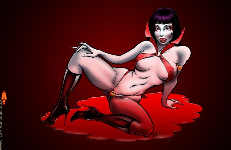 Daily Doodle for 2014 03 19: My submission to the Trinquette weekly challenge. I didn't really have time for this but I love Vampirella and couldn't pass up the opportunity!