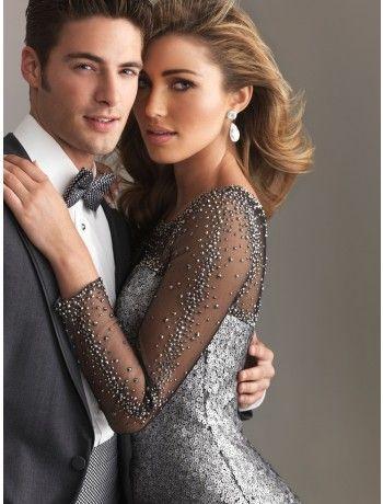 Mini-Length Prom Dresses - Love the detailed sleeves