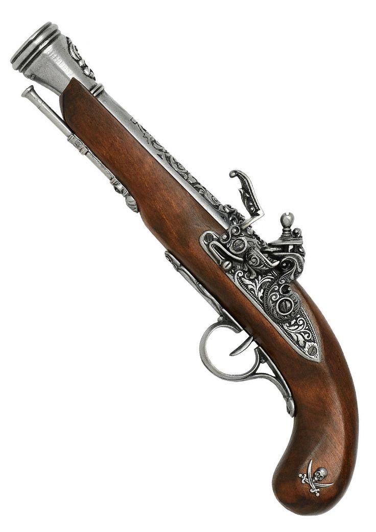 left handed pirate flintlock pistol 18th century antique arms armour pinterest. Black Bedroom Furniture Sets. Home Design Ideas