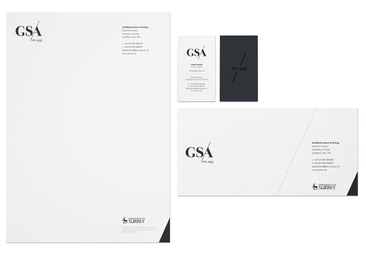 Letterhead, business card and compliment slip for assignment - compliment slip template