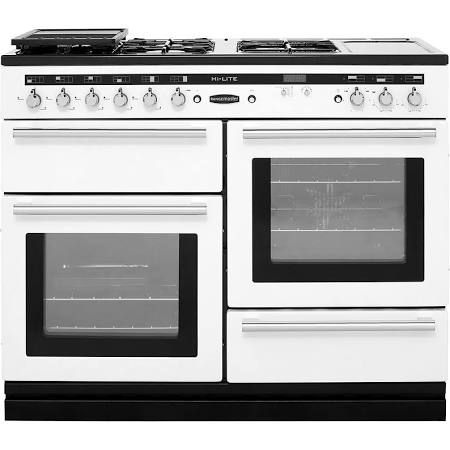 white dual fuel range cooker - Google Search