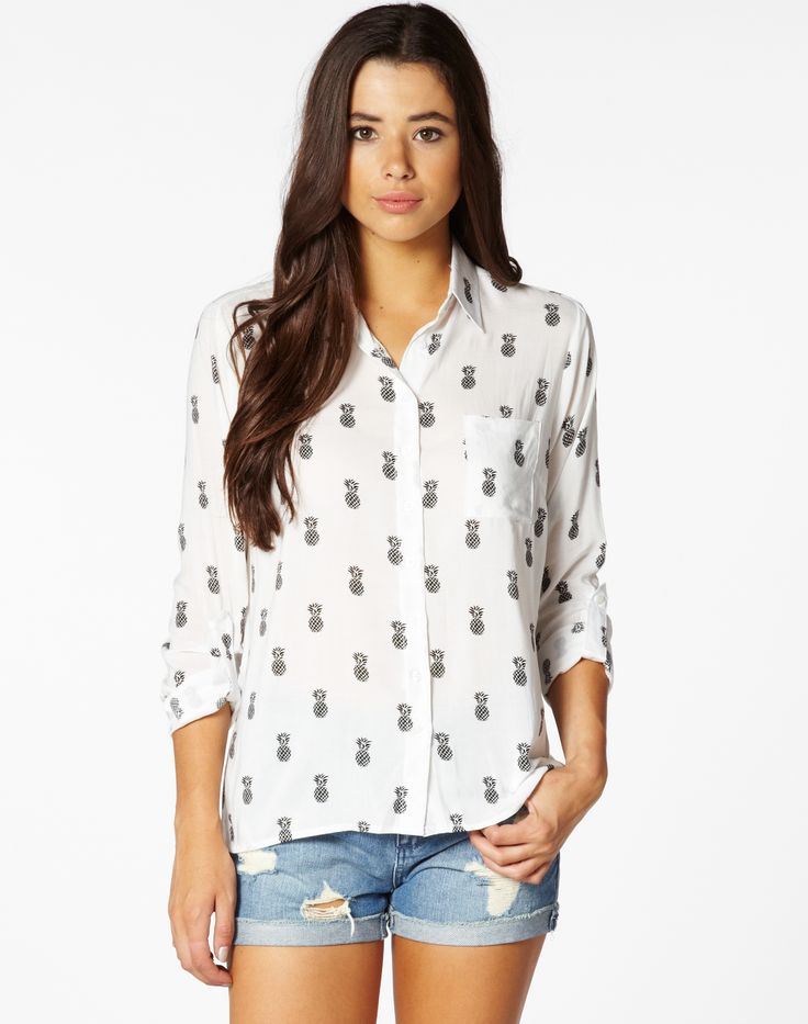 Pineapple Print Shirt by Glassons