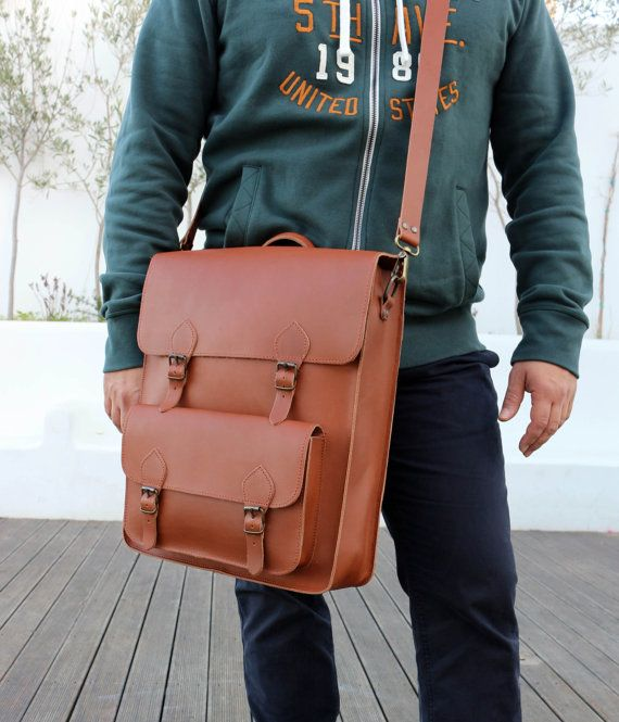 Leather Backpack  Mens Leather Backpack  Womens by MagusLeather