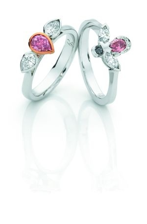 Giulians pink diamond rings, available custom made to order, or select from our stunning collection