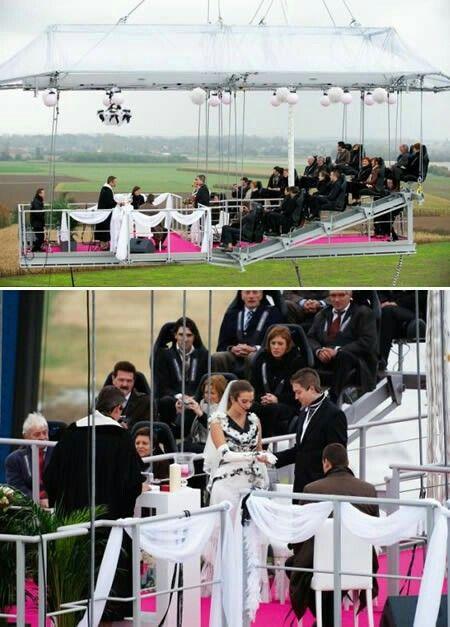 Bungee jumping platform weddings
