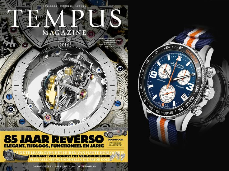 The blue LEMARQ Monza Chrono with matching NATO-strap in Dutch watch magazine Tempus.   Order your LEMARQ at www.lemarqwatches.com.