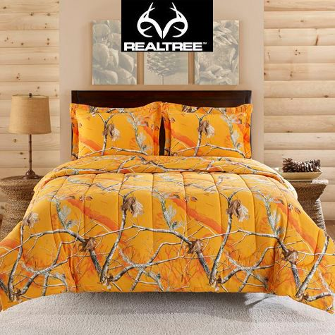 Realtree AP ™ Orange is another NEW Color in the Realtree AP Camo bedding collection! Like camo? Or color? #Realtreecamo #camobedding
