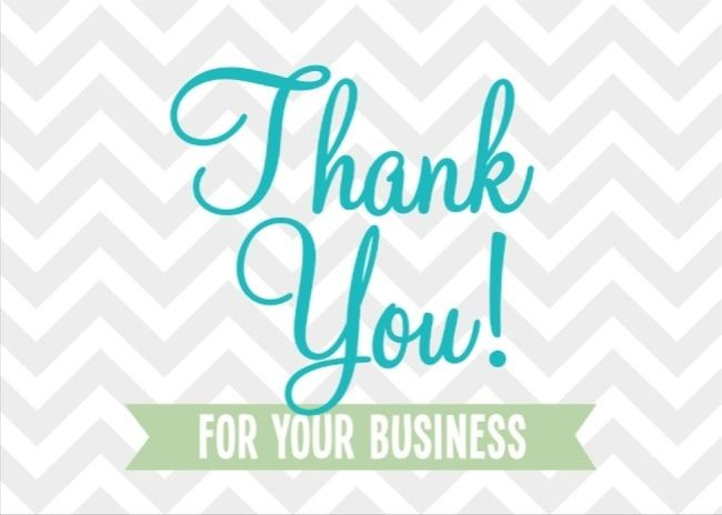 Thank you for your business Rodan Fields