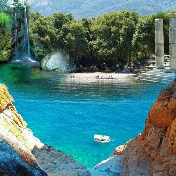 Σαμοθράκη  Waterfall, gorgeous beach, clear water, luscious trees and ancient ruins. This may be my little slice of heaven.