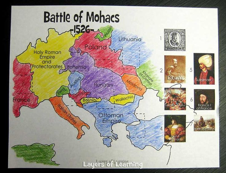 The Battle of Mohacs is one of the most significant battles in the history of the west.  This printable map activity fully explains what happened and why.