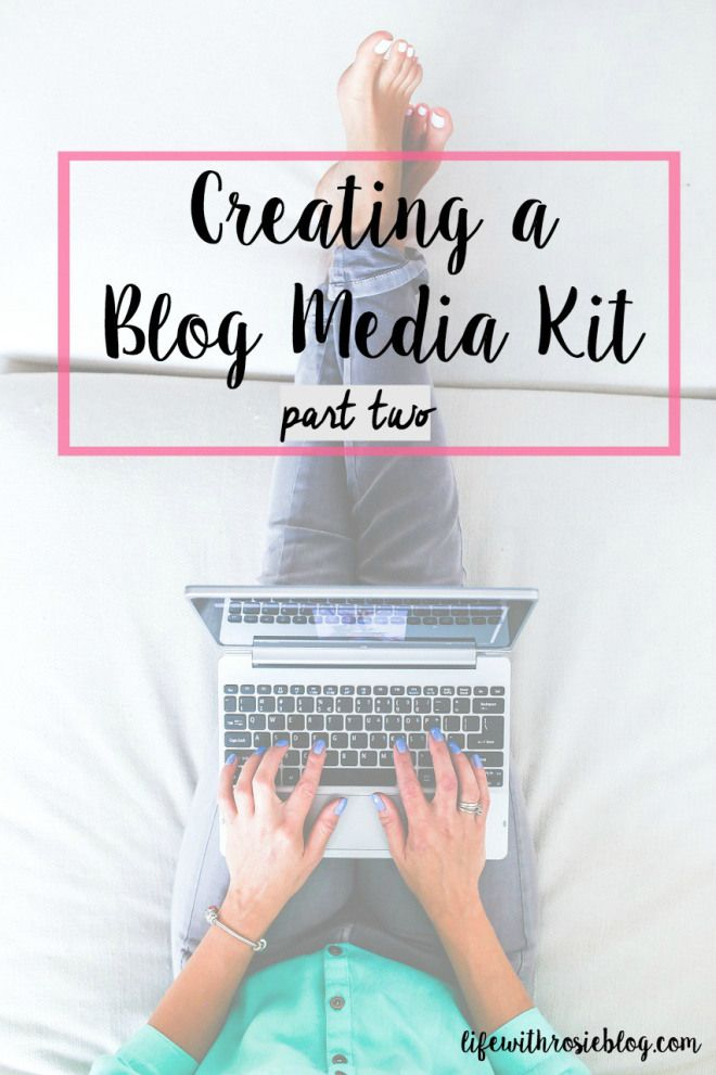 How to Create a Blog Media Kit: Part Two. How to make a blog media kit using picmonkey // Life with Rosie