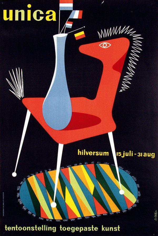 iconoclassic:    phasesphrasesphotos:Unica Applied Arts Exhibitionc.1950