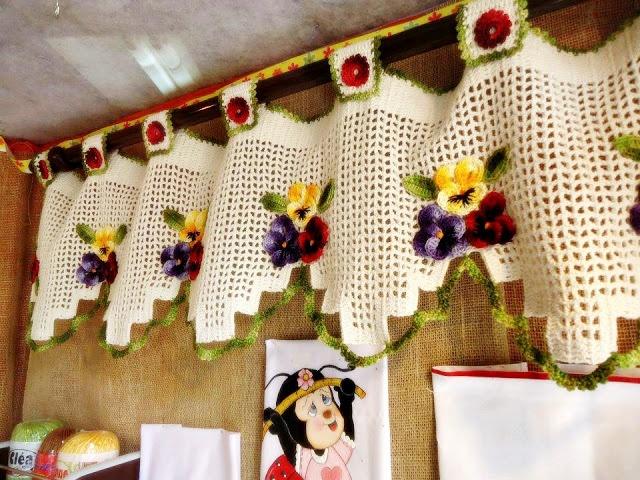 17 Best images about Cortinas de Tricô e Crochê on Pinterest ...