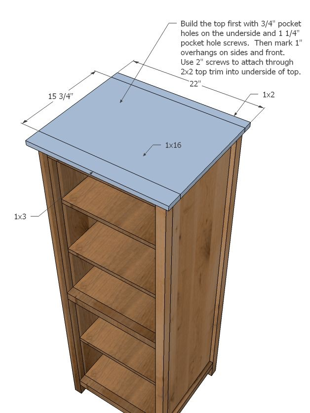 Ana White | Build a Benchmark Storage or Media Tower | Free and Easy DIY Project and Furniture Plans