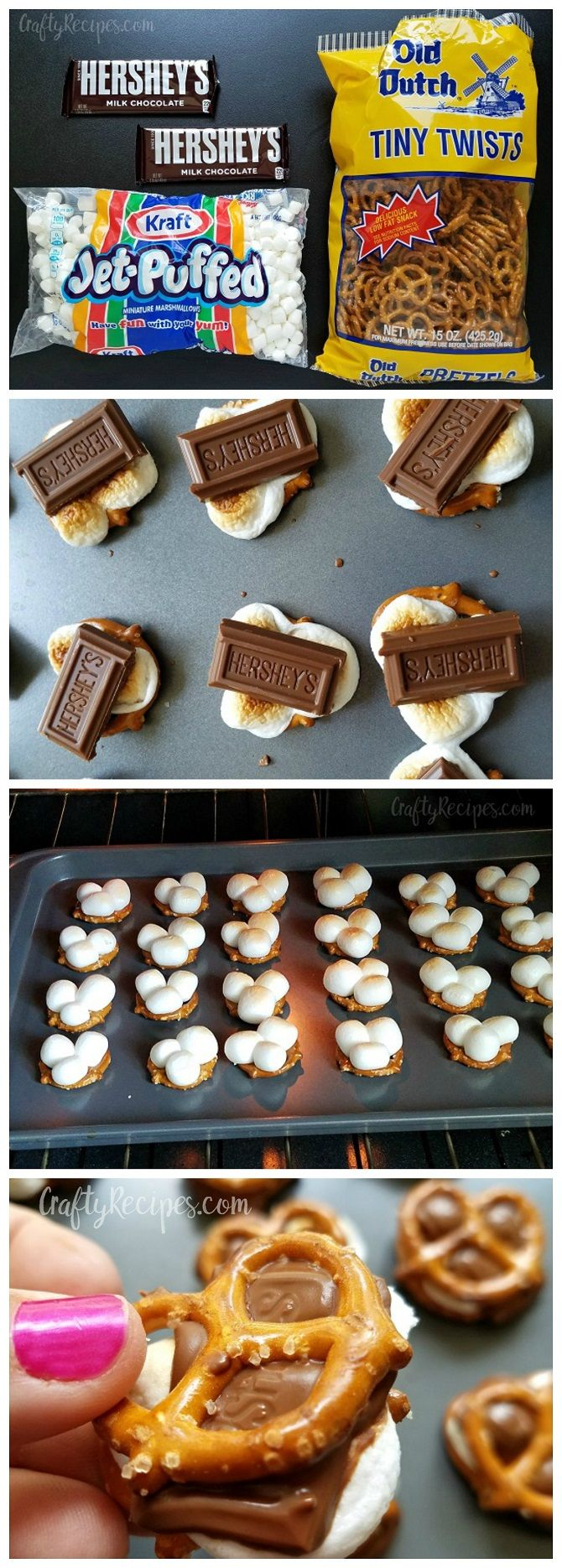 These s'more pretzel bites were AMAZING! Salty and sweet at the same time. Saving this recipe for a summer dessert                                                                                                                                                                                 More