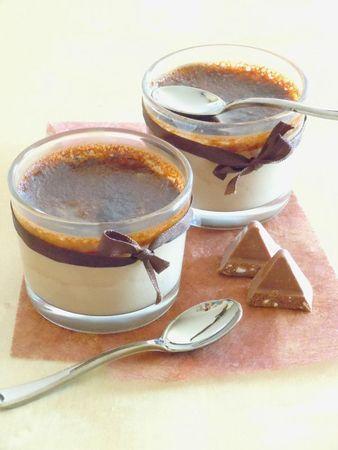 Crèmes brûlées Toblerone  #recette #crème #chocolat #facile