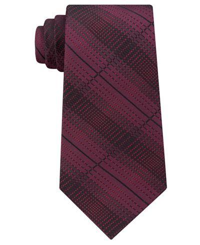 Kenneth Cole Reaction Men's Optical Texture Plaid Silk Tie - Ties & Pocket Squares - Men - Macy's