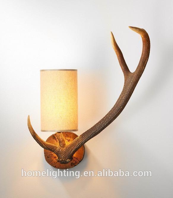 AL-1430 Resin antler lamp wall lamp antler wall lamp deer antler lamp