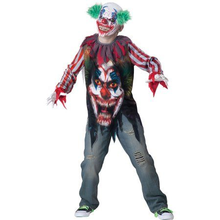 Big Top Terror Boys Child Halloween Costume, One Size, XS (6), Size: Small_6, Multicolor